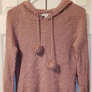 wearing your on your sleeve Tops - Very Warm Pinkish pompom hoodie